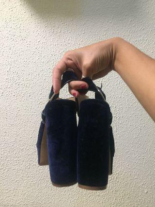 Suede Zara heels