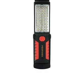 (E1200) Rechargeable Inspection Lamp 36+5 LED Torch Camping Light Hands-Free Work Light Flashlight Magnet Base and Hanging Hook for Home, Auto Repair, Outdoor Camping Hiking Garage Emergencies Use(Red)
