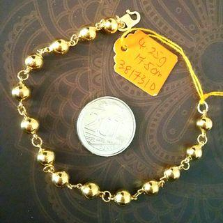 Real 916 Gold chainlink with small balls bracelet