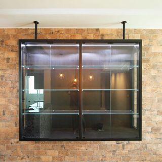 (S9) custom Top hung display cabinet