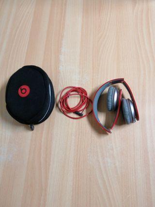 Beats耳機紅soloHD有線