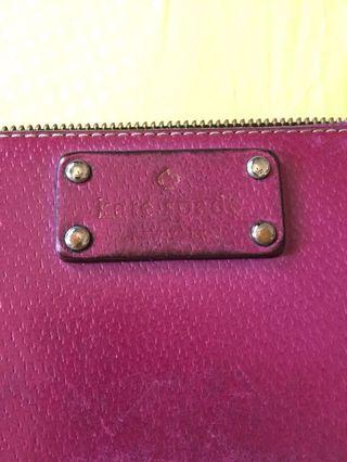 Kate Spade Purple Long Wallet
