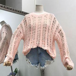 Comfy Soft Material Pastel Sweet Pink Oversized Knit Wear