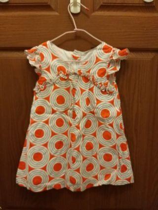 🚚 韓國設計5號橘漾洋裝