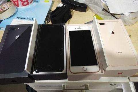 Iphone 8 plus 256gb black and rose gold fullset