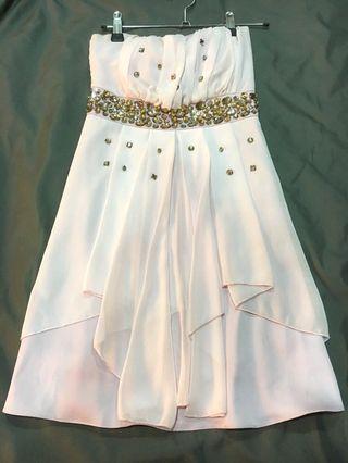 派對 平口洋裝 淡藕色 #半價衣服拍賣會