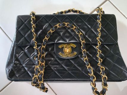 a6505befef33 Chanel Black Qualited Flap Lambskin (Authentic Preloved)