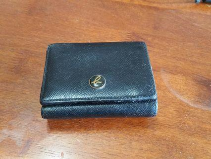 🚚 Agnes B leather wallet authentic tri-fold not bag