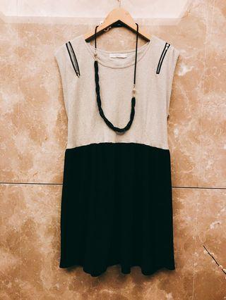 🚚 I.MODA黑白顯瘦洋裝