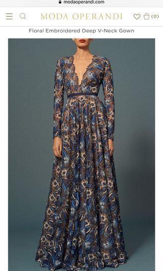 Designer prom or evening gown