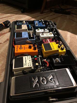 Guitar effect pedal full set