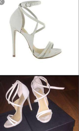 Alita Grey Strapped Heels