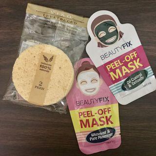Exfoliator Bundle: (2) Peel Off Masks and (1) Facial Cellulose Sponge