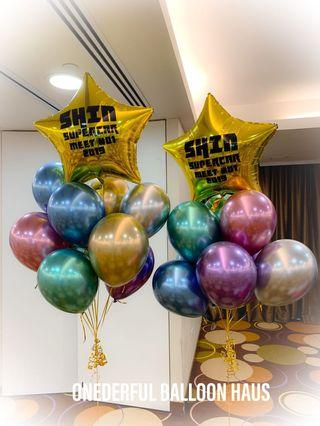 🚚 Balloon cluster with customise message