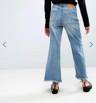🚚 cheap monday chewed hem relaxed jeans