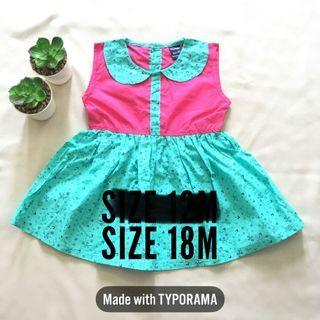 Baby Dress Pink Hijau turquoise