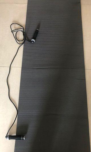 Sport Mat and skipping rope