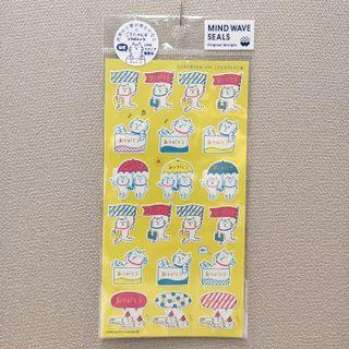 Mind wave seals 小貓 謝謝你 手帳貼紙 sticker #MTRcentral