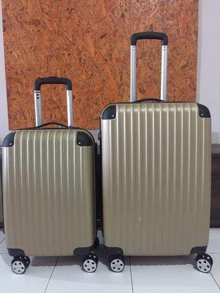 Luggage 2in1 plain gold 24inch & 20inch