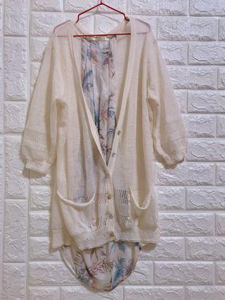 🚚 正韓針織設計感長版外套
