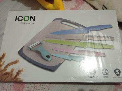 ICON LIVING 馬卡龍 不沾刀具占板7件組 799元