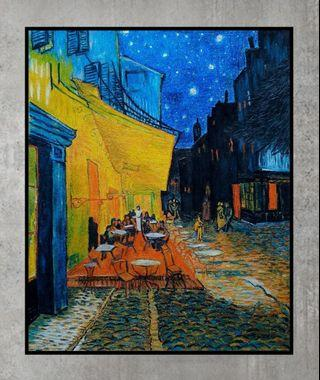 Reproduction of famous Van Goh The Cafe Oil Pastel Painting
