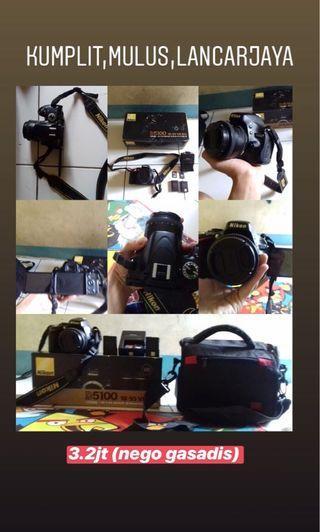 Nikon d5100 lensa fix bagus murah