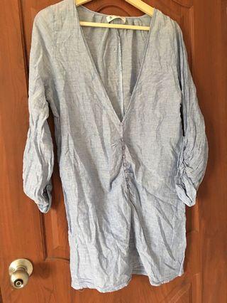 🚚 長版棉麻襯衫