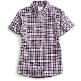 🚚 ★lativ 國民服飾-女-經典格紋襯衫-紫藍格-M