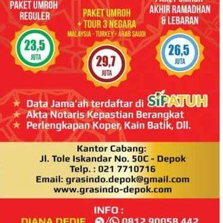Dicari Admin Marketing, Marketing dan Tour Leader Travel Umroh