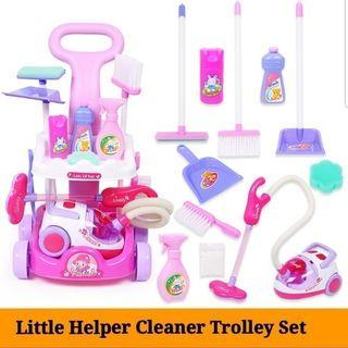 Little Helper Cleaner Cleaning Educational Toy Set with Trolley Vacuum Mop and Broom