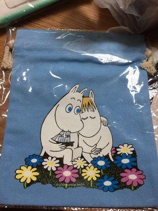 🚚 MOOMIN 嚕嚕米 藍色束口袋 全新