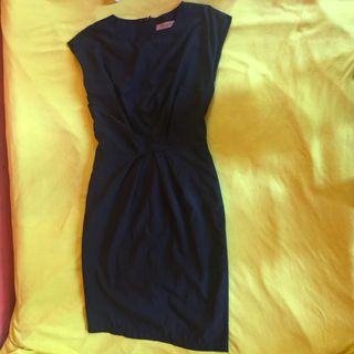 Tied black dress