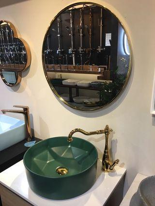 🚚 Latest green basin + gold basin mixer set