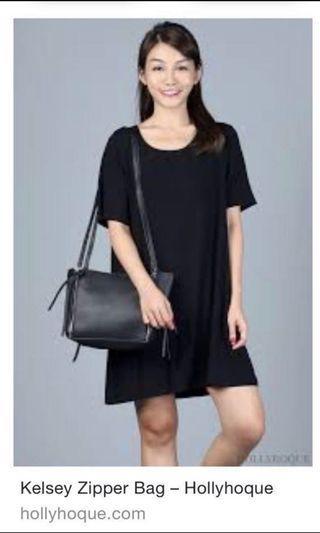 🚚 HOLLYHOQUE Kesley Zipper Bag Black