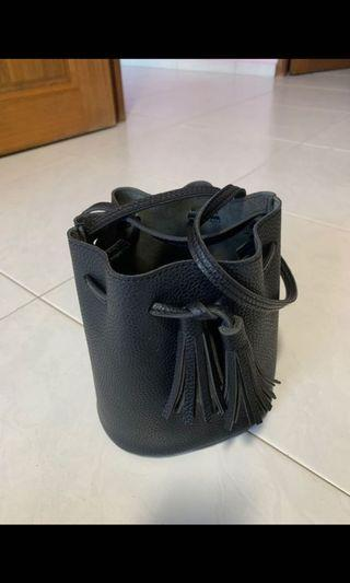 Black Bucket Small Bag