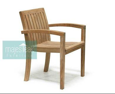 Teak Stacking Chair - majesTEAK Furniture