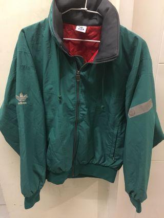 🚚 Adidas 湖水綠 古著外套 古著 保存良好 老品 寬鬆 反光標