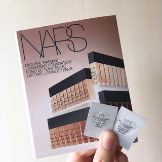 (2粒)NARS 自然亮采持久粉底液 Natural Radiant Longwear Foundation #SALZBURG Light 3.5 (0.5ml  試用裝 sample)