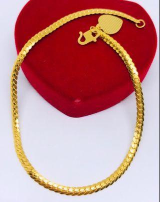 916 Gold Bracelet - Snake skin