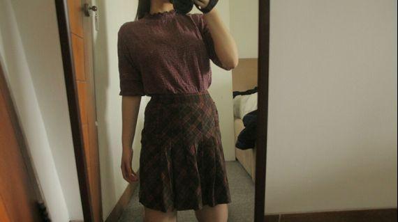 Petty brown skirt