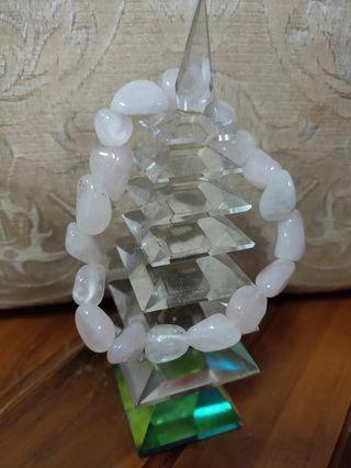 Genuine rose quartz bracelets