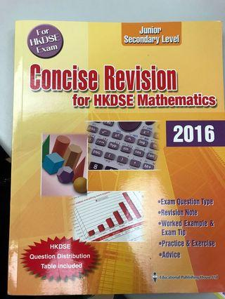 Concise Revision for HKDSE Mathematics 2016
