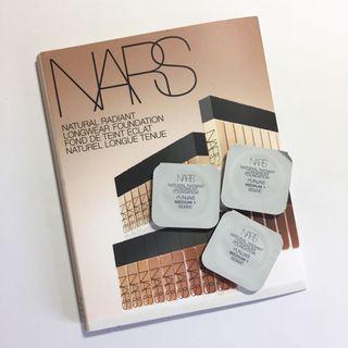 (3粒)NARS 自然亮采持久粉底液 Natural Radiant Longwear Foundation #PUNJAB Medium 1 (0.5ml  試用裝 sample)