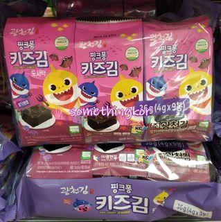 韓國 Korea Pinkfong Baby Shark Crispy seaweed 紫菜