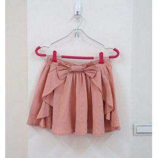 腰飾蝴蝶結荷葉邊短裙