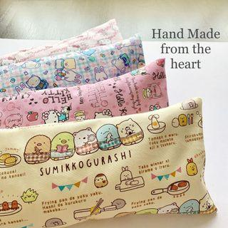 🚚 🌈 Bean Sprout Husk Pillow / Beanie Pillow , Imported fabric ( 100% Handmade 100% Cotton , Premium Quality!) size 15 x 40cm
