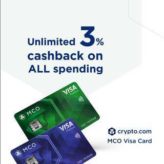 MCO Visa Card - Royal Indigo / Jade Green