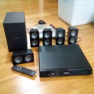 Philips Home Theater HTS 3531/98 DVD-VCD-CD-USB player plus bisa radio mode juga