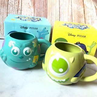 🚚 4/24旋轉快閃免運✨(全新) Pixar Disney 怪獸大學 毛怪 大眼仔 FUN手玩立體大馬克杯組 兩個一起賣 絕版 限定品